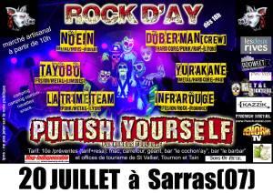 Festival Rock D'Ay, le 20 juillet 2013 (Sarras, Ardèche)