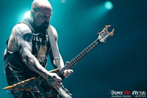 Kerry King, guitariste de Slayer, farouche anti-religion.